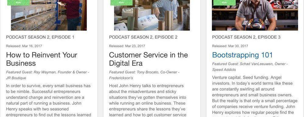 El Podcast de eBay en su segunda temporada