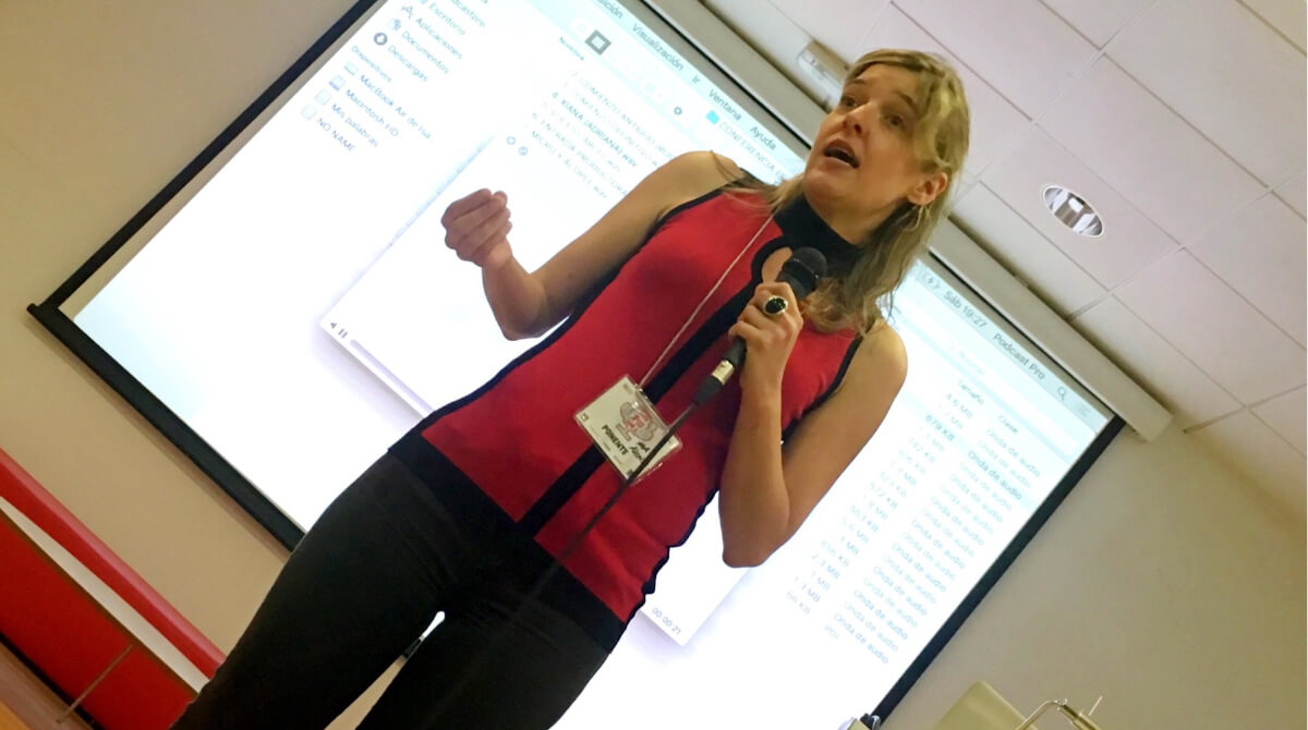 Ana Alonso, directora del podcast El gran apagón