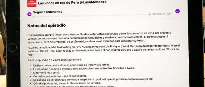 La aplicación de Podcasts de Apple: cambió de mal en peor.