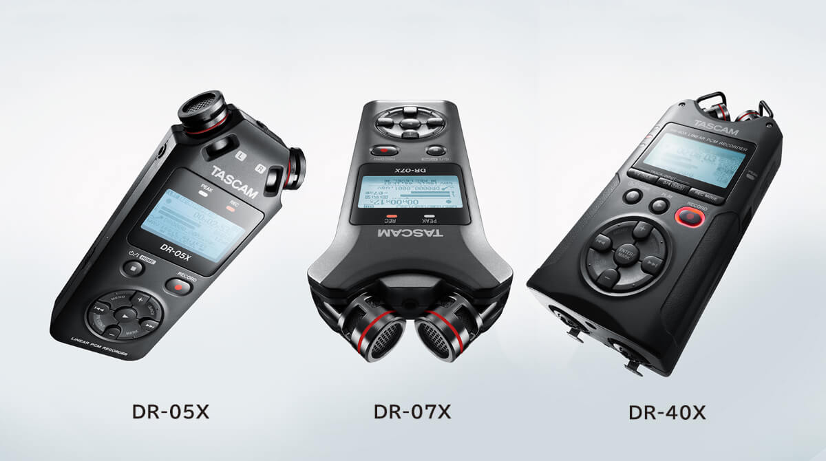Nuevas grabadoras DR-X e interfaces de audio TASCAM