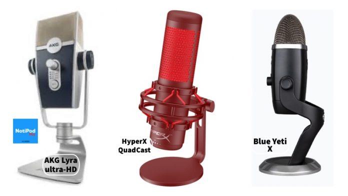 Nuevos micrófonos: HyperX QuadCast, AKG Lyra y Blue Yeti X