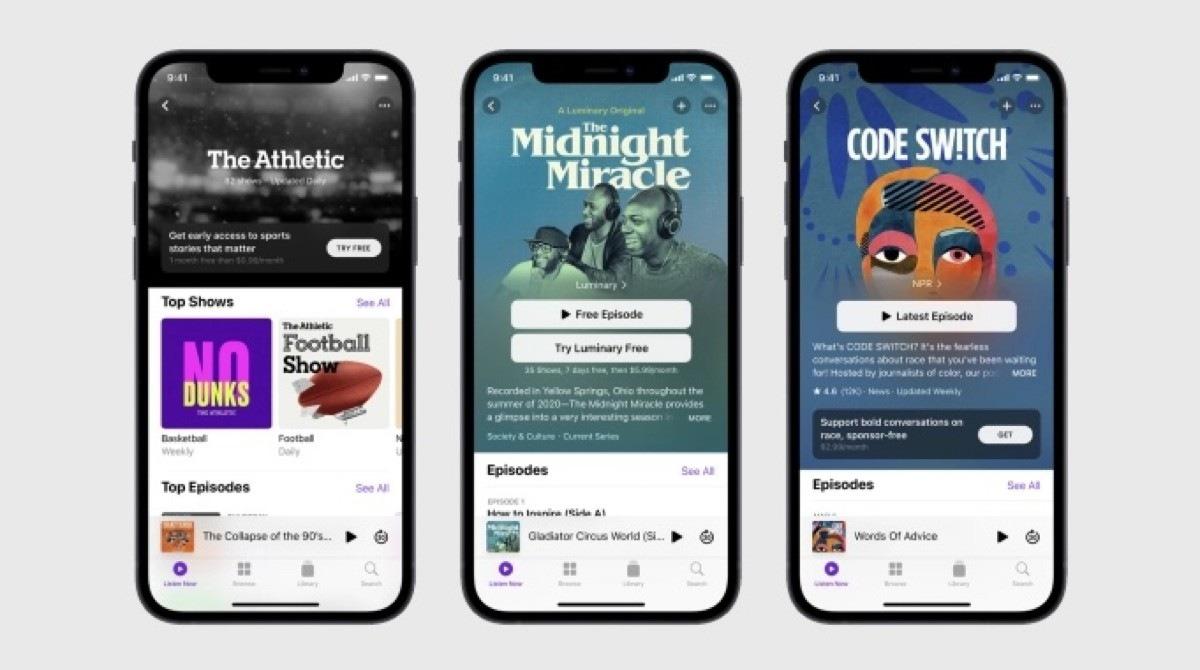 Las suscripciones de Apple Podcasts estarán disponibles la próxima semana