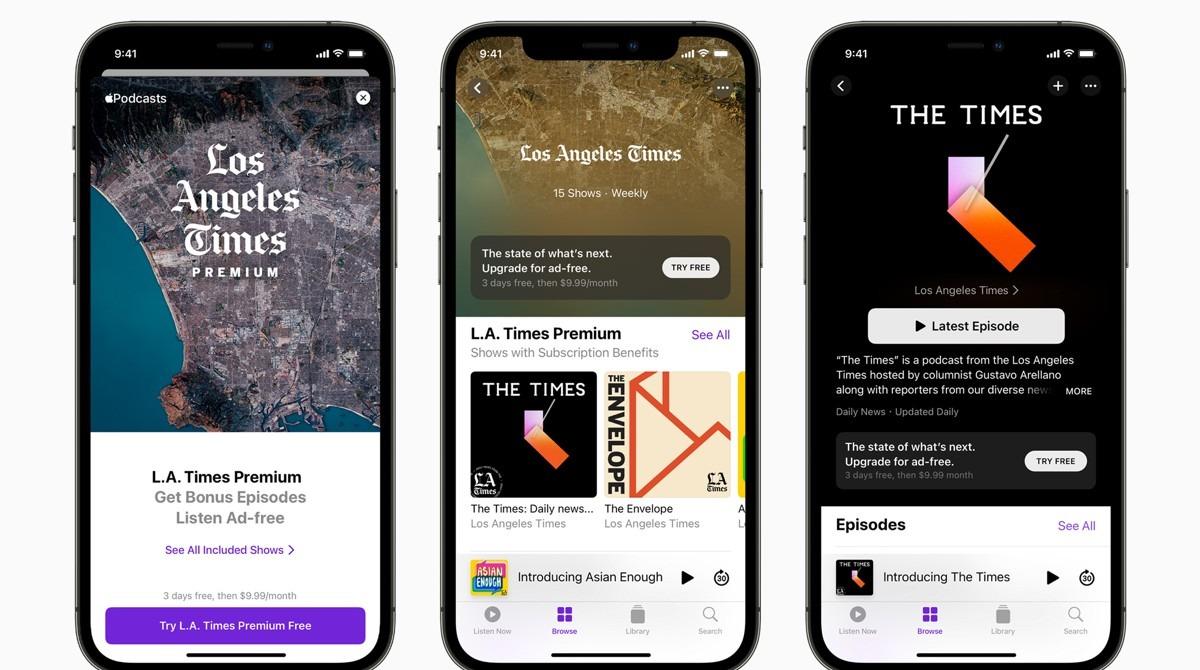 Las suscripciones de Apple Podcasts ya están disponibles en todo el mundo